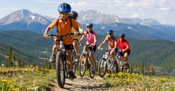 Kids biking